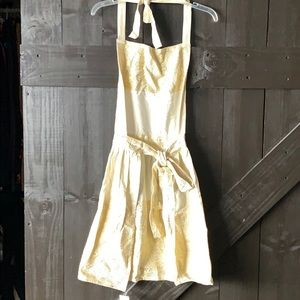 NWT Anthropologie Apron for Cooking Metallic Gold